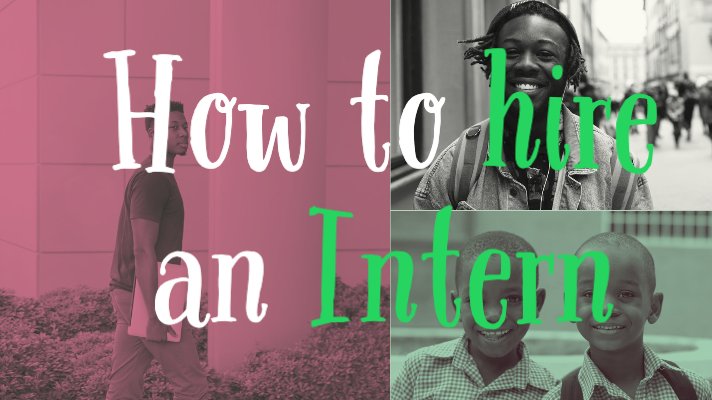 How to hire an intern graphic