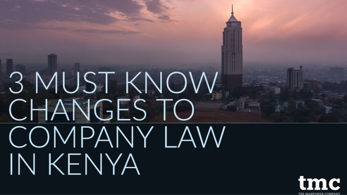 3 changes to company law in kenya